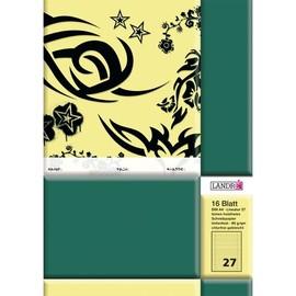 Heft starker Deckel A4 Lineatur 27 liniert Rand links+rechts 16Blatt 80g holzfrei weiß Landré 100050041 Produktbild