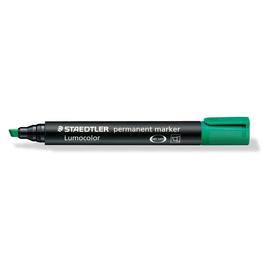 Permanentmarker Lumocolor 350 2-5mm Keilspitze grün wasserfest Staedtler 350-5 Produktbild