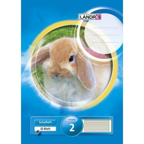 Heft starker Deckel A4 Lineatur 2 2. Schuljahr 32Blatt 80g holzfrei weiß Landré 100050050 Produktbild