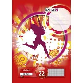 Heft starker Deckel A4 Lineatur 22 kariert 32Blatt 80g holzfrei weiß Landré 100050055 Produktbild