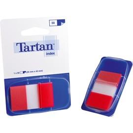 Haftstreifen Tartan Index 25,4x43,2mm rot transparent 3M 6805-1EU (PACK=50 STÜCK) Produktbild