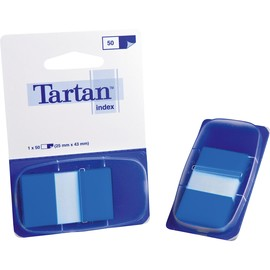 Haftstreifen Tartan Index 25,4x43,2mm blau transparent 3M 6805-2EU (PACK=50 STÜCK) Produktbild