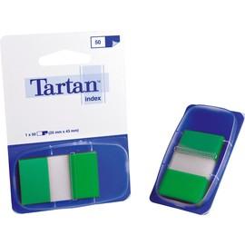 Haftstreifen Tartan Index 25,4x43,2mm grün transparent 3M 6805-3EU (PACK=50 STÜCK) Produktbild