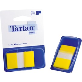 Haftstreifen Tartan Index 25,4x43,2mm gelb transparent 3M 6805-5EU (PACK=50 STÜCK) Produktbild
