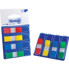 Haftstreifen Tartan Index 11,9x43,2mm 4 Grundfarben transparent 3M 6835-4EU (PACK=4x 35 STÜCK) Produktbild