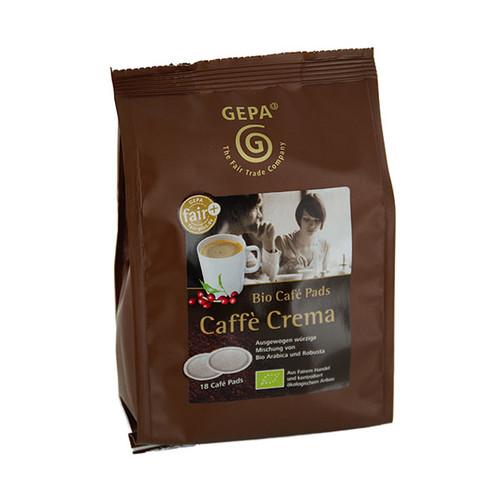 Kaffeepads Bio Crema GEPA 8960923 (PACK=18 STÜCK) Produktbild Front View L