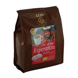 Kaffeepads Bio Cafe Esperanza mild GEPA 8960922 (PACK=18 STÜCK) Produktbild