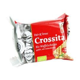 Waffelschnitte BioCrossita mit Schokolade + Cashewkerne GEPA 8911936 (PACK=40 GRAMM) Produktbild