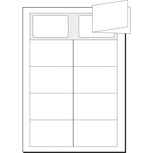 Klapp-Visitenkarten Inket+Laser+Kopier 85x55mm 225g weiß beidseitig bedruckbar Sigel LP838 (PACK=50 STÜCK) Produktbild Additional View 2 L