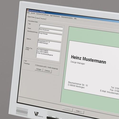 Klapp-Visitenkarten Inket+Laser+Kopier 85x55mm 225g weiß beidseitig bedruckbar Sigel LP838 (PACK=50 STÜCK) Produktbild Additional View 3 L