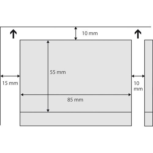 Klapp-Visitenkarten Inket+Laser+Kopier 85x55mm 225g weiß beidseitig bedruckbar Sigel LP838 (PACK=50 STÜCK) Produktbild Additional View 4 L
