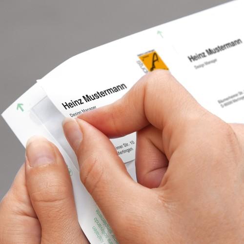 Klapp-Visitenkarten Inket+Laser+Kopier 85x55mm 225g weiß beidseitig bedruckbar Sigel LP838 (PACK=50 STÜCK) Produktbild Additional View 5 L