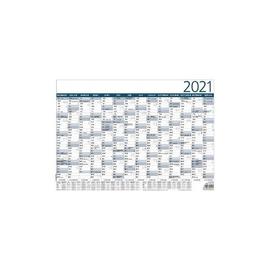 Plakatkalender 2021 ca. A3 42x29,7cm 14Monate/1Seite grau/blau Plano Zettler 930-0000 Produktbild
