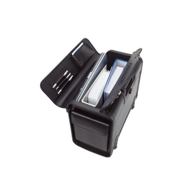 Pilotenkoffer mit Trolleysytem SILVANA 48,5x37X24cm schwarz Lederimitat Alassio 92301 Produktbild