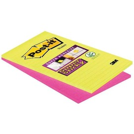 Haftnotizen Post-it Super Sticky Notes 125x200mm Ultrafarben Papier 3M 5845SSEU (ST=2x 45 BLATT) Produktbild