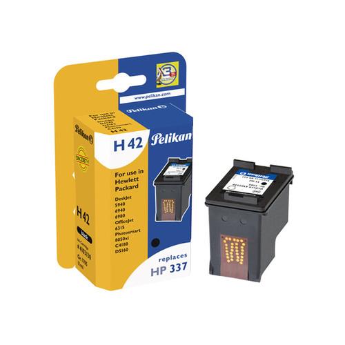 Tintenpatrone Gr. 1705 (C9364EE) für DeskJet 5940/Photosmart8050;8750 11ml schwarz Pelikan 4103130 Produktbild Front View L