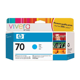 Tintenpatrone 70 für HP DesignJet Z2100/Z3200 130ml cyan HP C9452A Produktbild