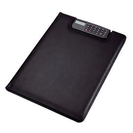 Schreibmappe BRESCIA A4 inkl Rechner schwarz Lederimitat Alassio 3150 Produktbild