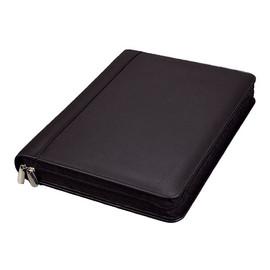 Ringbuchmappe mit Reißverschluss A4 BOSA schwarz Nappaleder Alassio 30061 Produktbild