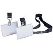 Namensschild CLICK FOLD mit Textilband 54x90mm schwarzes Band Durable 8217-19 (PACK=10 STÜCK) Produktbild