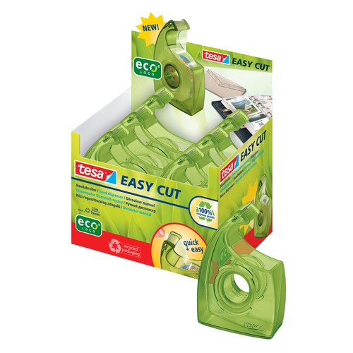 Handabroller Easy Cut ecoLogo leer füllbar bis 19mm x 33m grün Tesa 57956-00000-00 Produktbild Additional View 1 L