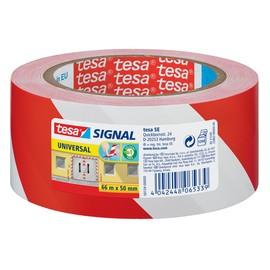 Markierungs-Klebeband Universal 50mm x 66m rot/weiß PP Tesa 58134-00000-00 Produktbild