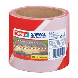 Absperrband nicht klebend 80mm x 100m rot/weiß PE-Folie Tesa 58137-00000-00 Produktbild