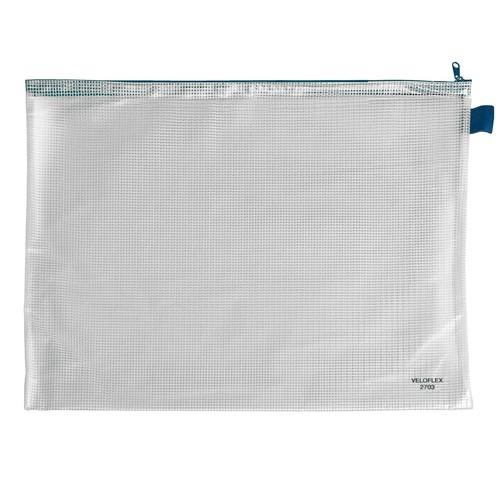 Reißverschlusstasche 445x320mm gewebeverstärkte PVC-Folie Veloflex 2703000 Produktbild Front View L