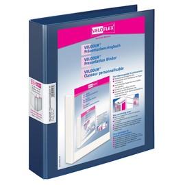 Präsentationsringbuch Velodur mit Sichttaschen A4 Überbreite 2Ringe Ringe-Ø30mm blau PP Veloflex 4147150 Produktbild