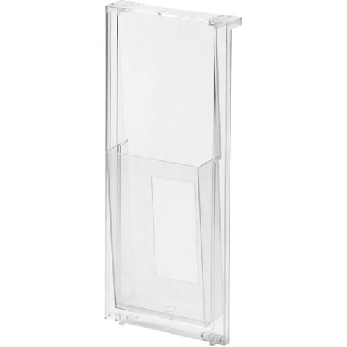 Prospekthalter 140x59x326mm 1/3 A4 hoch glasklar Helit H6810102 Produktbild Front View L