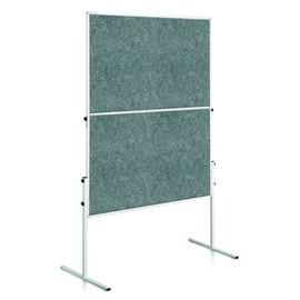 Moderationswand ECONOMY faltbar 150x120cm grau filzbespannt Legamaster 7-207000 Produktbild