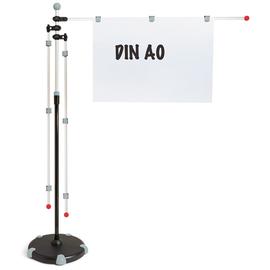 Mobilpresenter 3x Aluschwenkarme A0 + 9x Magnetclips grau HEBEL 62560-84 Produktbild
