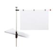 Tischpresenter mit Klemmfuß A1 100cm + 3 Magnetclips grau HEBEL 62550-84 Produktbild