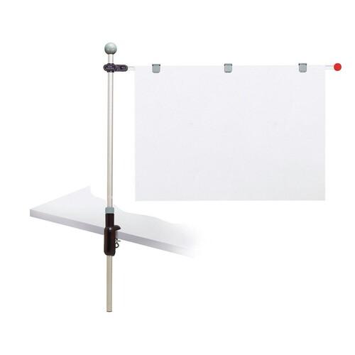 Tischpresenter mit Klemmfuß A1 100cm + 3 Magnetclips grau HEBEL 62550-84 Produktbild Front View L