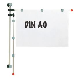 Wandpresenter 2 Aluschwenkarme A0 132cm + 6 Magnetclips grau HEBEL 62530-84 Produktbild