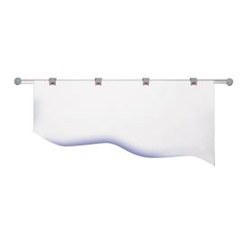 Planhalter Wandschiene 100cm + 4 Rollenclips grau HEBEL 62510-85 Produktbild
