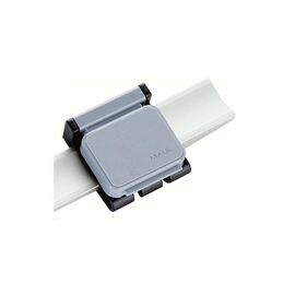 Magnetclip V für Presenter-Schwenkarme 36x40mm grau mit Haken HEBEL 62630-84 (PACK=10 STÜCK) Produktbild