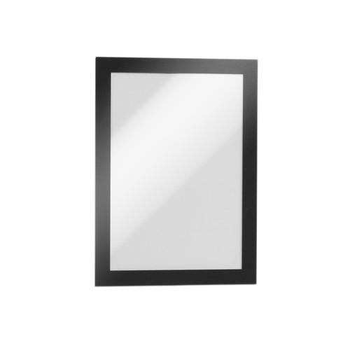 Informationsrahmen DURAFRAME A5 schwarz/transparent selbstklebend Durable 4871-01 (ST=2 STÜCK) Produktbild