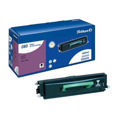 Toner Gr. 1380HC (E352H11E) für Optra E350 9000Seiten schwarz Pelikan 4200181 Produktbild Front View L