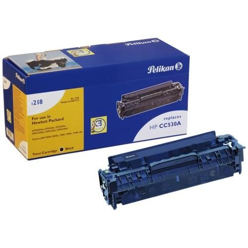 Toner Gr. 1218 (CC530A) für Color Laserjet CP2025/CM2320 3500Seiten schwarz Pelikan 4207173 Produktbild Front View L