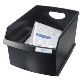 Papierkorb eckig LOGO 290x446x295mm 25l schwarz HAN 1849-13 Produktbild
