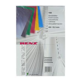 Einbanddeckel A4 200µ transparent klar Renz 20200094 (PACK=100 STÜCK) Produktbild