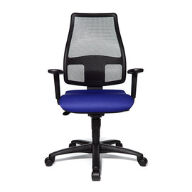 Drehstuhl Trend Medic 50 mit Armlehnen schwarz/blau Topstar TM500TW56H Produktbild