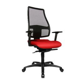 Drehstuhl Trend Medic 50 mit Armlehnen schwarz/rot Topstar TM500TW51H Produktbild