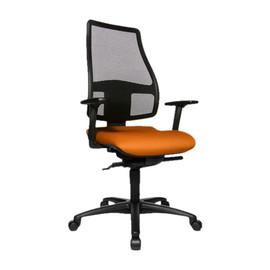 Drehstuhl Trend Medic 50 mit Armlehnen schwarz/orange Topstar TM500TW54H Produktbild
