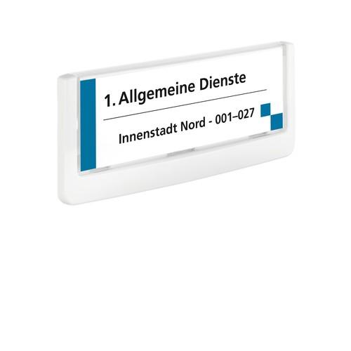 Türschild CLICK SIGN 149x52,5mm weiß kunststoff Durable 4860-02 Produktbild