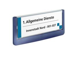 Türschild CLICK SIGN 149x52,5mm dunkelblau kunststoff Durable 4860-07 Produktbild
