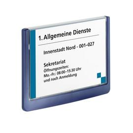 Türschild CLICK SIGN 149x105,5mm dunkelblau kunststoff Durable 4861-07 Produktbild