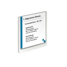 Türschild CLICK SIGN 149x148,5mm weiß kunststoff Durable 4862-02 Produktbild
