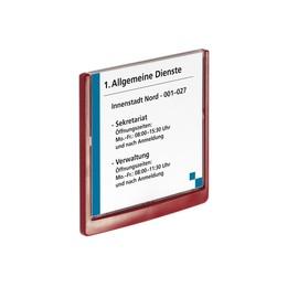 Türschild CLICK SIGN 149x148,5mm rot kunststoff Durable 4862-03 Produktbild
